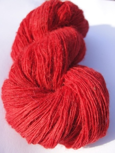 Alpaca laceweight single full red