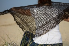 Ridge and Furrow Lace Shawl