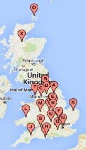 Team HSN UK location map