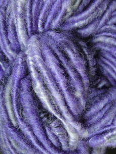 Corespun BFL and silk on hemp core